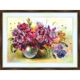Bead embroidery kit «A-0167 Overflowing Irises»