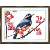 Bead embroidery kit «A-0217 Bluebird in the Spring»