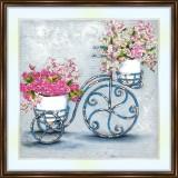 Bead embroidery kit «A-0257 Vintage Flower Arrangement»