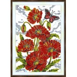 Bead embroidery kit «A-0318 Field Poppies»