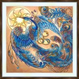 Bead embroidery kit «A-0438 Peacock Phoenix Rising»