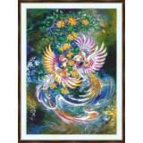 Bead embroidery kit «A-0448 Passion Birds»