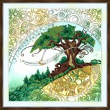 Bead embroidery kit «A-0492 Tree of Life»