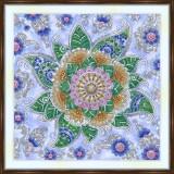 Bead embroidery kit «A-0525 Mehndi Flower»
