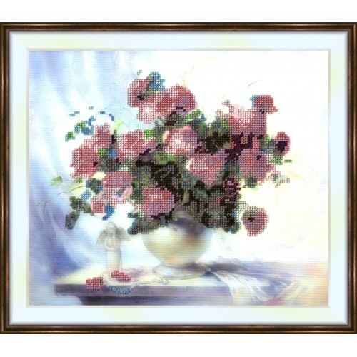 Bead embroidery kit «K-0016 Bouquet with an Angel»