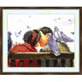 Bead embroidery kit «K-0026 Turtle Doves 'n Love»