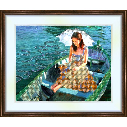 Bead embroidery kit «K-0036 Floating on the Lake»