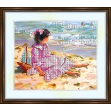 Bead embroidery kit «K-0046 Sitting on the Shore»