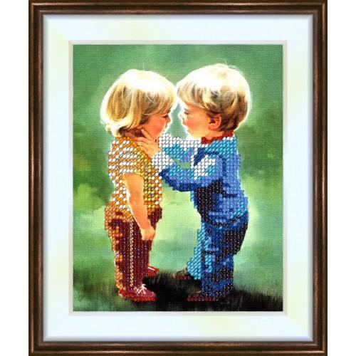 Bead embroidery kit «K-0056 I love You»