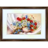 Bead embroidery kit «K-0066 Wildflowers»