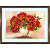 Bead embroidery kit «K-0086 Orange Poppies»