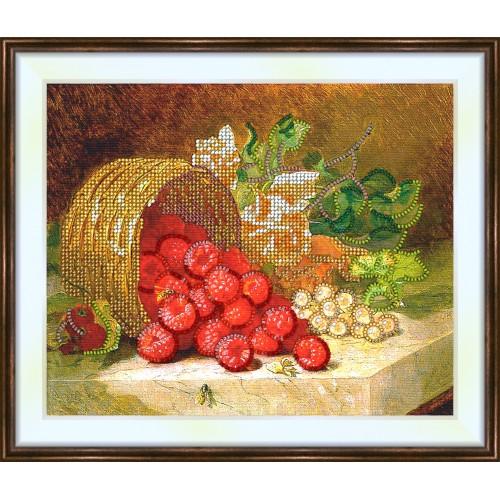 Bead embroidery kit «K-0126 Raspberry Abundance»
