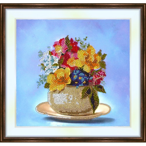 Bead embroidery kit «K-0136 Variegated Bouquet»