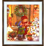 Bead embroidery kit «K-0146 Decorating the Tree»