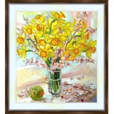 Bead embroidery kit «K-0157 Early Spring Daffodils»