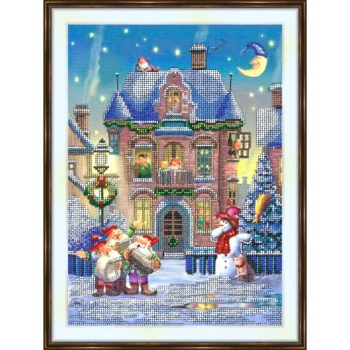 Bead embroidery kit «K-0187 Christmas Caroling»