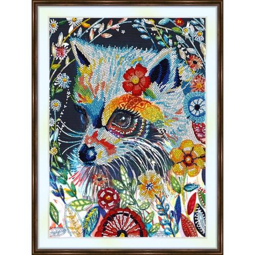 Bead embroidery kit «K-0217 Fairytale Raccoon»