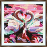 Cross stitch kit «S-0003 The Swan Pair»