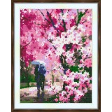 Cross stitch kit «S-0024 Sakura Landscape»