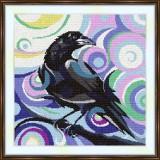 Cross stitch kit «S-0034 Stylized Raven»