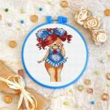 Cross stitch kit «T-0072 Miss Polka Dot»