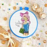 Cross stitch kit «T-0102 Fashion Girl»