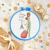 Cross stitch kit «T-0122 I Love Travel»