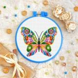 Cross stitch kit «T-0177 Mandala Butterfly»
