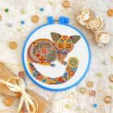 Cross stitch kit «T-0208 Mandala Lemur»