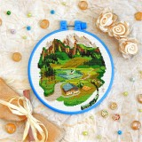 Cross stitch kit «T-0415 House in the Mountains»