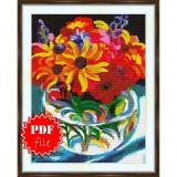 Cross stitch pattern «pdf-S-0007 Summer Bouquet»