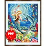 Cross stitch pattern «pdf-S-0038 Mermaid»