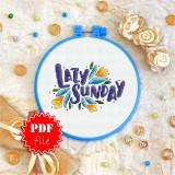 Cross stitch pattern «pdf-T-0007 Lazy Sunday»