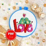 Cross stitch pattern «pdf-T-0017 Lovebird Love»