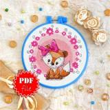 Cross stitch pattern «pdf-T-0027 Miss Foxie Kit»