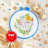 Cross stitch pattern «pdf-T-0087 Be Happy»