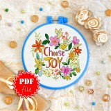 Cross stitch pattern «pdf-T-0097 Choose Joy 2»