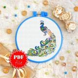 Cross stitch pattern «pdf-T-0127 Peacock»