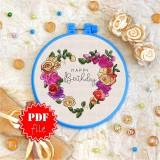 Cross stitch pattern «pdf-T-0137 Happy Birthday 10»