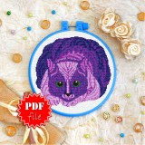 Cross stitch pattern «pdf-T-0147 Mandala Cat»