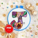 Cross stitch pattern «pdf-T-0190 Letter J»