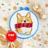 Cross stitch pattern «pdf-T-0242 Fluffy Friend»