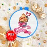 Cross stitch pattern «pdf-T-0324 Love Cake»