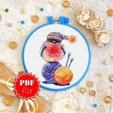 Cross stitch pattern «pdf-T-0335 Bullfinch»
