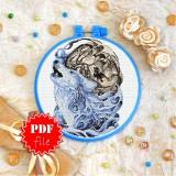 Cross stitch pattern «pdf-T-0354 Wolf Totem»