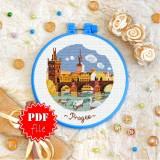 Cross stitch pattern «pdf-T-0406 Prague»