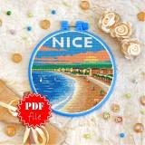 Cross stitch pattern «pdf-T-0416 Nice»