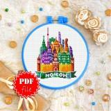 Cross stitch pattern «pdf-T-0436 Moscow»