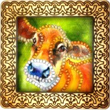 Magnet bead embroidery kit «M-0015 Curious Cow»