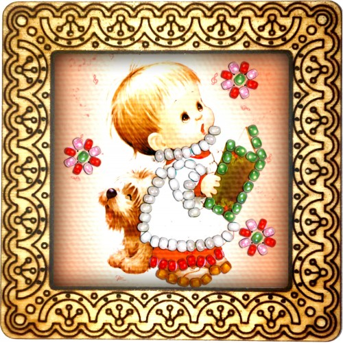 Magnet bead embroidery kit «M-0075 Singing My Song»